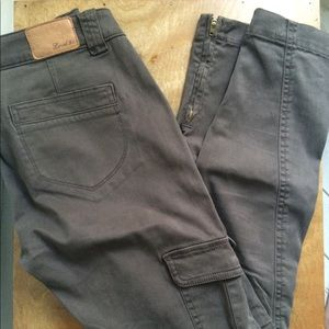 Anthro Level 99 Skinny Cargo Ankle Pants w/Zippers